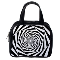 Pattern Texture Spiral Classic Handbag (one Side) by Alisyart