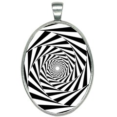 Pattern Texture Spiral Oval Necklace by Alisyart