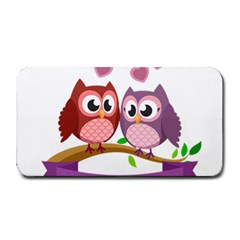 Owl Cartoon Bird Medium Bar Mats