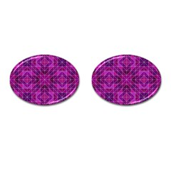 Purple Triangle Pattern Cufflinks (oval)