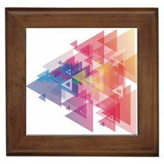 Science And Technology Triangle Framed Tiles