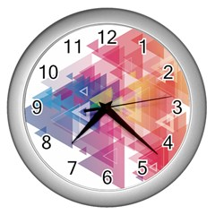 Science And Technology Triangle Wall Clock (silver)