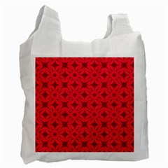 Red Magenta Wallpaper Seamless Pattern Recycle Bag (one Side)