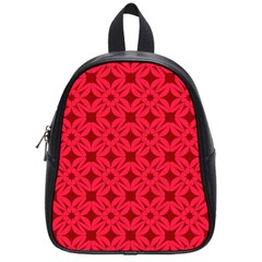 Red Magenta Wallpaper Seamless Pattern School Bag (small)