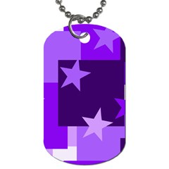 Purple Stars Pattern Shape Dog Tag (two Sides)