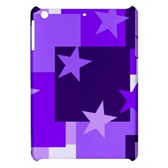 Purple Stars Pattern Shape Apple Ipad Mini Hardshell Case