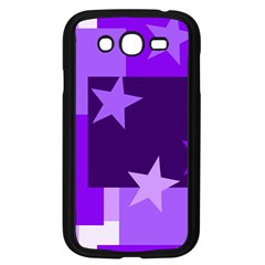 Purple Stars Pattern Shape Samsung Galaxy Grand Duos I9082 Case (black)