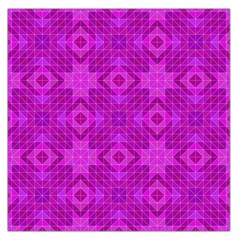 Magenta Mosaic Pattern Triangle Large Satin Scarf (square) by Pakrebo