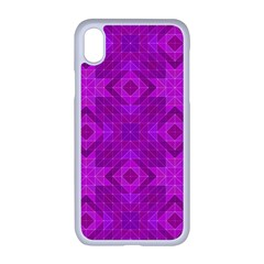 Magenta Mosaic Pattern Triangle Apple Iphone Xr Seamless Case (white)