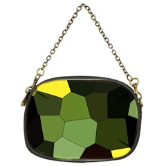 Mosaic Structure Background Tile Chain Purse (one Side)