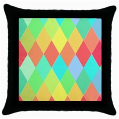 Low Poly Triangles Throw Pillow Case (black)