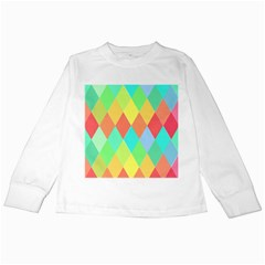 Low Poly Triangles Kids Long Sleeve T Shirts by Pakrebo