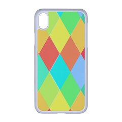 Low Poly Triangles Apple Iphone Xr Seamless Case (white)