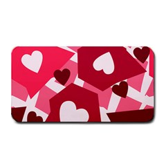 Pink Hearts Pattern Love Shape Medium Bar Mats