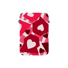 Pink Hearts Pattern Love Shape Apple Ipad Mini Protective Soft Cases