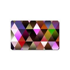 Abstract Geometric Triangles Shapes Magnet (name Card)