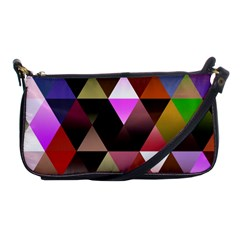 Abstract Geometric Triangles Shapes Shoulder Clutch Bag