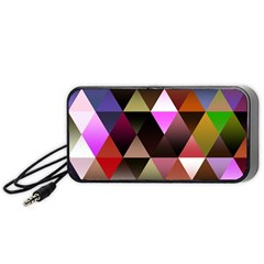 Abstract Geometric Triangles Shapes Portable Speaker