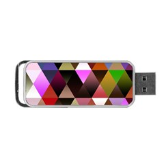 Abstract Geometric Triangles Shapes Portable Usb Flash (two Sides)