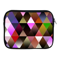 Abstract Geometric Triangles Shapes Apple Ipad 2/3/4 Zipper Cases