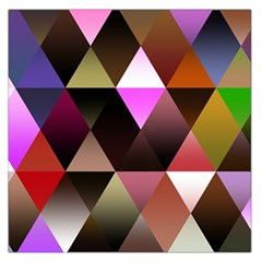 Abstract Geometric Triangles Shapes Large Satin Scarf (square)
