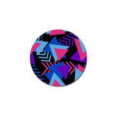 Memphis Pattern Geometric Abstract Golf Ball Marker