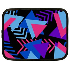 Memphis Pattern Geometric Abstract Netbook Case (large)