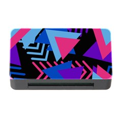 Memphis Pattern Geometric Abstract Memory Card Reader With Cf