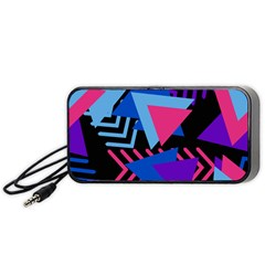 Memphis Pattern Geometric Abstract Portable Speaker