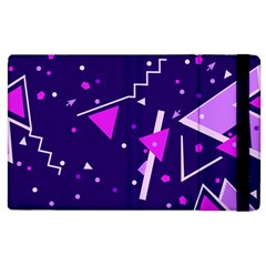 Purple Blue Geometric Pattern Apple Ipad 2 Flip Case by Pakrebo
