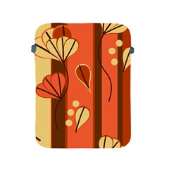 Amber Yellow Stripes Leaves Floral Apple Ipad 2/3/4 Protective Soft Cases