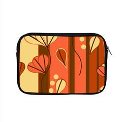 Amber Yellow Stripes Leaves Floral Apple Macbook Pro 15  Zipper Case by Pakrebo