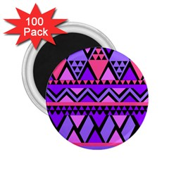 Seamless Purple Pink Pattern 2.25  Magnets (100 pack)