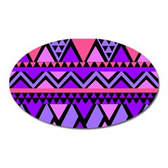 Seamless Purple Pink Pattern Oval Magnet