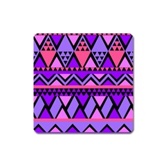 Seamless Purple Pink Pattern Square Magnet