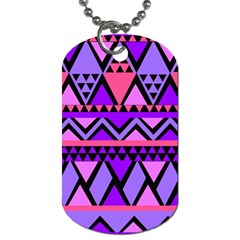 Seamless Purple Pink Pattern Dog Tag (One Side)