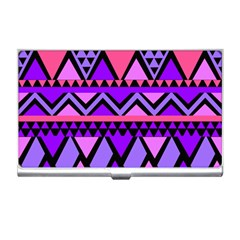 Seamless Purple Pink Pattern Business Card Holder