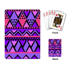 Seamless Purple Pink Pattern Playing Cards Single Design