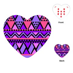 Seamless Purple Pink Pattern Playing Cards (Heart)