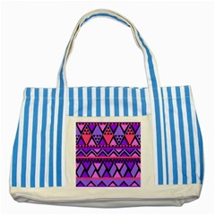 Seamless Purple Pink Pattern Striped Blue Tote Bag