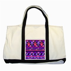 Seamless Purple Pink Pattern Two Tone Tote Bag
