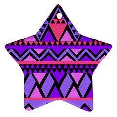 Seamless Purple Pink Pattern Star Ornament (Two Sides)