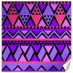 Seamless Purple Pink Pattern Canvas 16  X 16  by Pakrebo