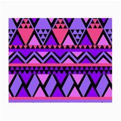 Seamless Purple Pink Pattern Small Glasses Cloth (2-Side)