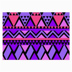 Seamless Purple Pink Pattern Large Glasses Cloth (2-Side)
