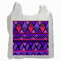 Seamless Purple Pink Pattern Recycle Bag (Two Side)