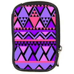 Seamless Purple Pink Pattern Compact Camera Leather Case