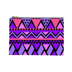 Seamless Purple Pink Pattern Cosmetic Bag (Large)