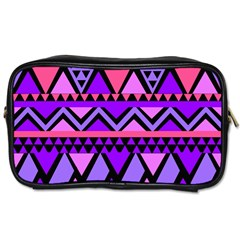 Seamless Purple Pink Pattern Toiletries Bag (One Side)