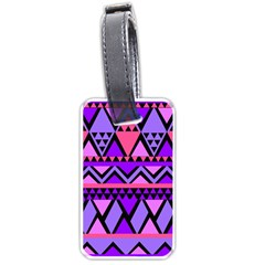 Seamless Purple Pink Pattern Luggage Tags (Two Sides)